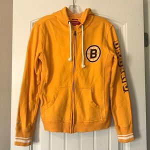 Mitchell & Ness Bruins Distressed Hoodie Large